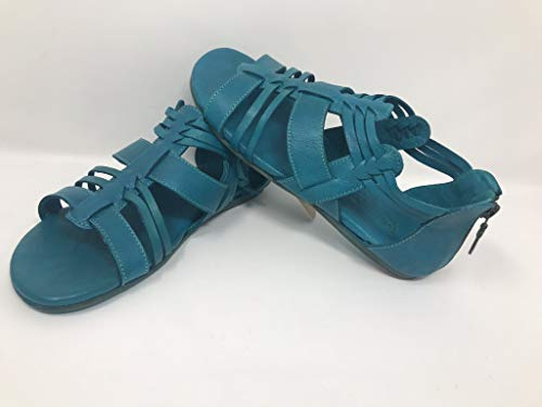Bed|Stu Women's Cara Leather Sandal Turquoise