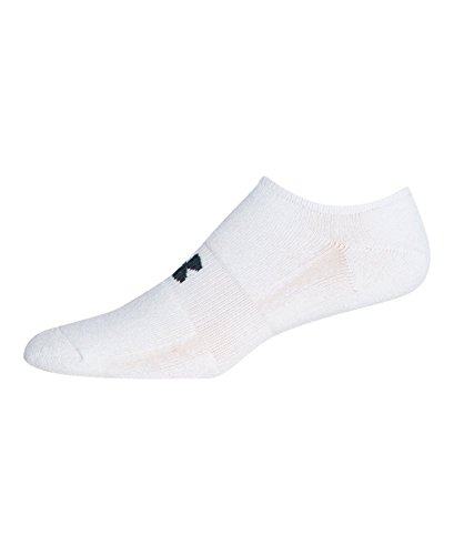 Under Armour Men's HeatGear Solo No-Show Socks (3 Pairs), White, Medium