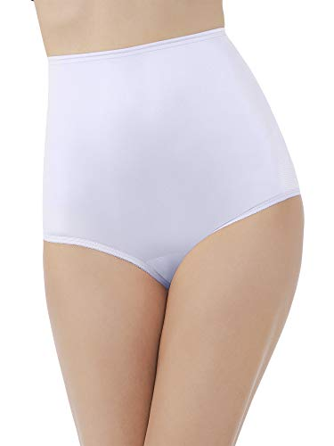Nylon White Panty Brief - Vanity Fair Women's Perfectly Yours Ravissant Tailored Nylon Brief Panty - Size XX-Large / 9 - Star White