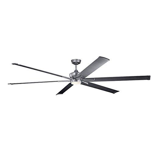 Kichler 300302WSP Szeplo Ii 6 Speed Ceiling Fan with Light, 96