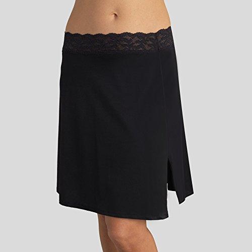 Vassarette Women's Full Figure Adjustable Waist Half Slip 11873, Black Sable-24 Inch, XX-Large