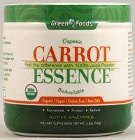 Зеленые продукты - морковь Сущность, (органическая) 6,8 Oz