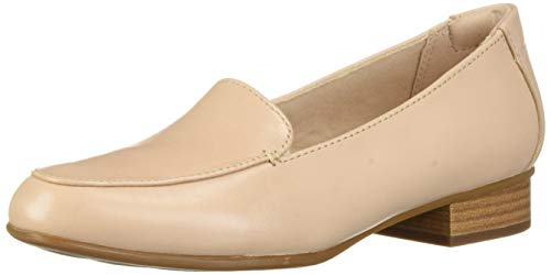 CLARKS Women's Juliet Lora Loafer Blush Leather 075 W US
