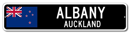 New Zealand Flag Sign - ALBANY, AUCKLAND - Kiwi Custom Flag Sign - 6