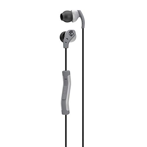- Skullcandy Method Sweat Resistant Sport Earbud with In-Line Microphone and Remote, Lightweight and Secure In-Ear Fit for Running and Exercise, Cable Management Clip for Workouts, Gray