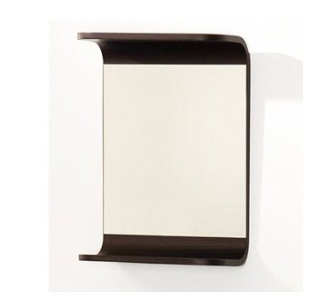Whitehaus AEM038N Small Rectangular Wall Mount Mirror with Shelf, (Whitehaus Rectangular Mirror)