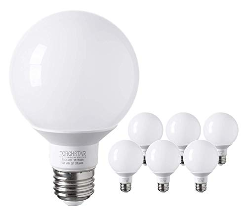 TORCHSTAR G25 Globe led Bulb, Vanity Light, 5W (40W Eqv.), UL-Listed, Daylight -