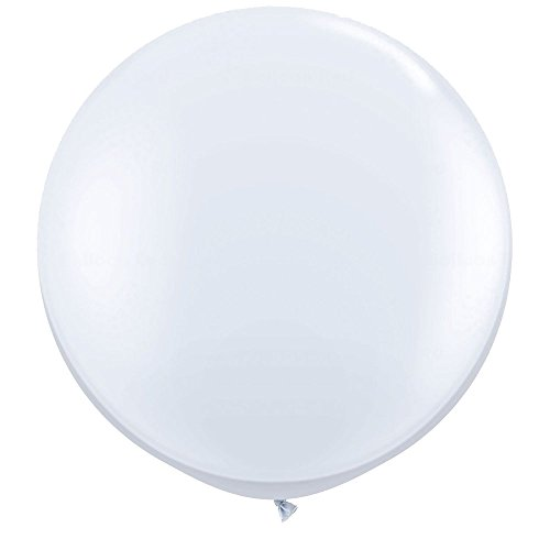 NYKKOLA 36 Inch Giant Latex Balloon (Premium Helium Quality)6 Pack Big White Balloons