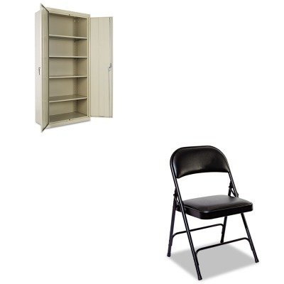 KITALECM7818PYALEFC96B - Value Kit - Best Assembled 78amp;quot; High Storage Cabinet (ALECM7818PY) and Best Steel Folding Chair With Padded Back/Seat (ALEFC96B)