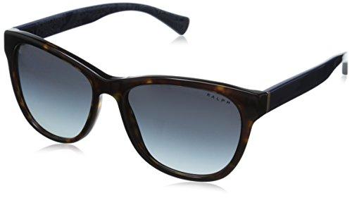 Ralph by Ralph Lauren Women's 0RA5196 Round Sunglasses, Dark Tortoise,Navy Bandana Grey & Gradient Navy Bandana, 54 - Lauren Ralph Round Glasses