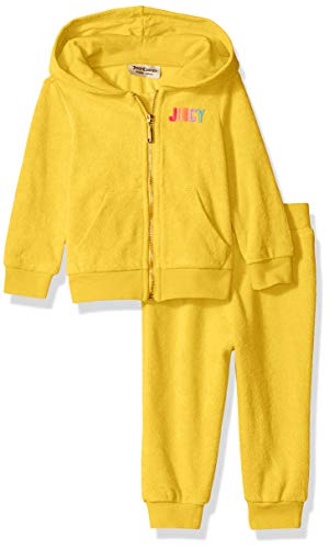 Juicy Couture Baby Girls 2 Pieces Jog Set, Yellow 24M