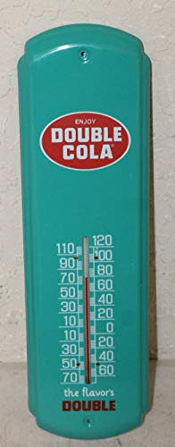 Double Cola Thermometer Vintage Style Sign