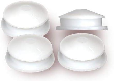 Pkg//100 National Artcraft White PVC Stopper Or Closure Plug fits 1//2 Inch Hole