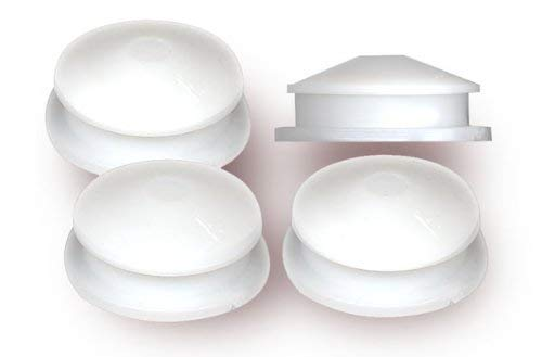 National Artcraft White PVC Plug fits 1 Inch Hole For Coin Banks or Salt Shakers (Pkg/100)