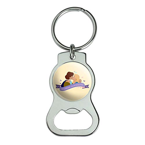Graphics and More Far Longer Than Forever The Swan Princess Kiss Bottle Cap Opener Keychain Key Ring