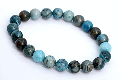 8MM Matte Blue Crazy Lace Agate Bracelet Grade AAA Natural Round Beads 7