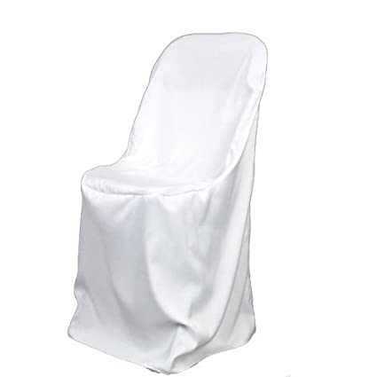 Superbe Fuzzy Fabric Folding Chair Cover Poly White