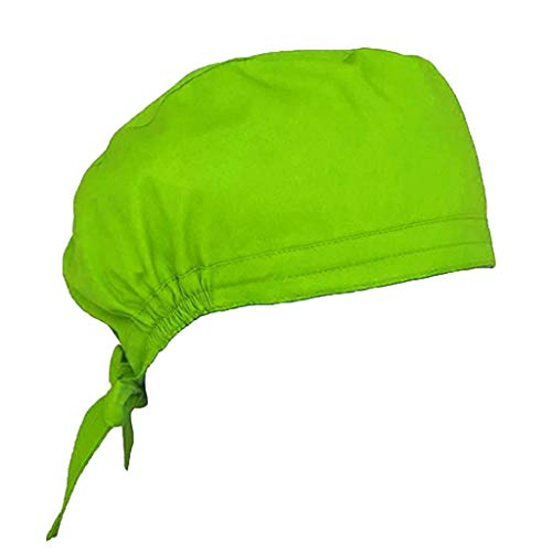 Surgical Cap 2 Pcs Scrub Cap Sweatband Medical Doctor Nurse Bouffant Cap Adjustable Turban Scrub Hat for Women Men
