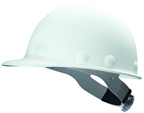Fibre-Metal by Honeywell P2A Roughneck Injection Molded Fiberglass Hard Hat with SuperEight Ratchet Suspension, White