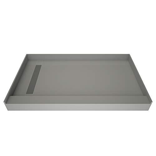 Tile Redi USA RT4248L-PVC-BN3 Redi Trench Shower Pan, 42