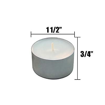Stonebriar 50 Pack Tea Light Candles, White