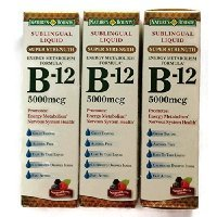 Nature's Bounty B-12 5000mcg Sublingual Liquid Natural Berry Dietary Supplement - 59 Doses, 2 FZ (Pack of 3) Carrier to shipping international usps, ups, fedex, dhl, 14-28 Day By Dragon - Day International 2 Shipping