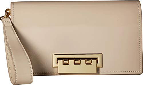 ZAC Zac Posen Women's Earthette Clutch Patent Sand One Size ()
