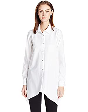 Calvin Klein Women's Plus Size Shirting W/ Sharkbite