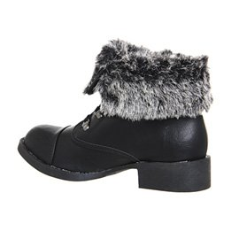 Blowfish - Botas para mujer Negro - Black Old Saddle Black Grey Faux Fuzzy Exclusive