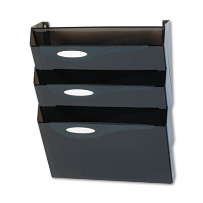 Classic Hot File Wall File Systems, Letter, Three Pockets, Smoke, Sold as 3 Each (Rubbermaid Pocket Three)