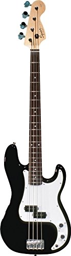 Squier by Fender Affinity P Electric Bass Guitar, Rosewood Fretboard - Black