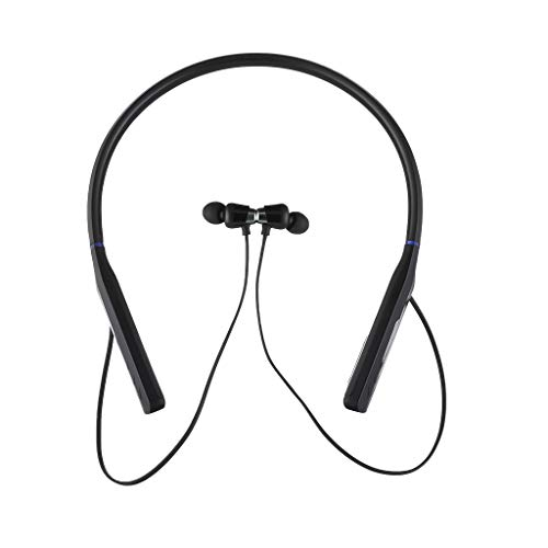 QUICATCH Bluetooth Wireless Earphone Sports Sweatproof Waterproof Hanging Neck Hearphone Headset for Fitness Cycling Running(Black)