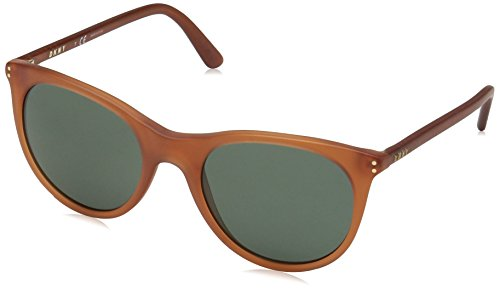DKNY Women's 0dy4162 Round Sunglasses, Transparent Amber, 52.0 ()