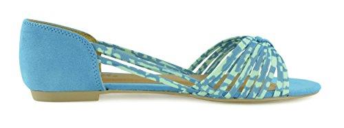 Giovani Donne Comfortabele Damesschoen Gedetailleerde Ballerina Platte Slip Op Schoenen Turquoise