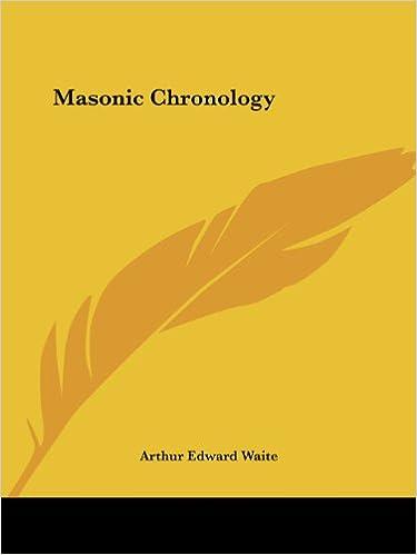 Kostenlose herunterladbare MP3-Bücher Masonic Chronology PDF PDB CHM