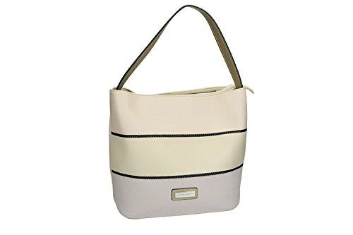 Bolsa mujer hombro PIERRE CARDIN beige con abertura con zip VN1817