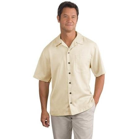 Port Authority Easy Care Camp Shirt, Ivory, XL