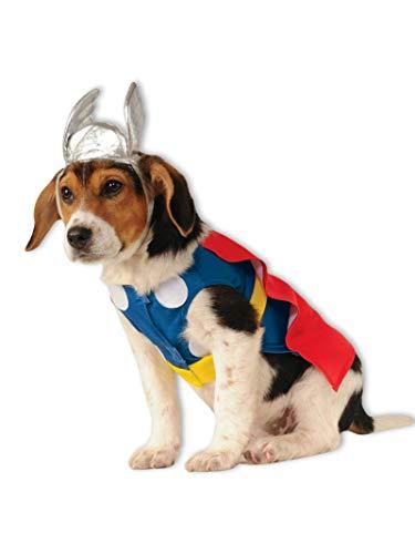 Thor Dog Halloween Costume (Rubie's Marvel Classic Thor Pet Costume,)