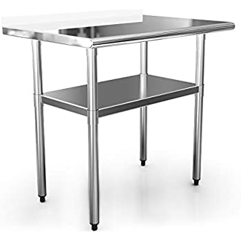 Amazon Com Kps Commercial Stainless Steel Work Prep Table