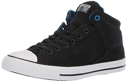 Converse Men's Unisex Chuck Taylor All Star Street High Top Sneaker, Black/Totally Blue, 8 M US]()
