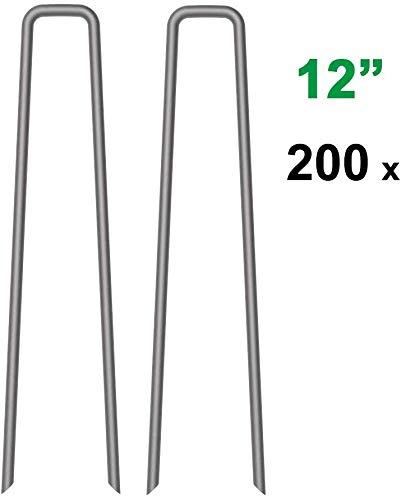 MySit 200 Pack Galvanized Landscape GardenStake_W12_200_US