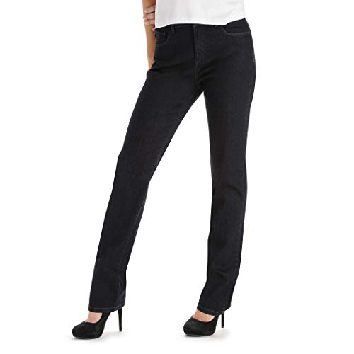 LEE Women's Tall Instantly Slims Classic Relaxed Fit Monroe Straight Leg Jean, Horizon, 12 Tall