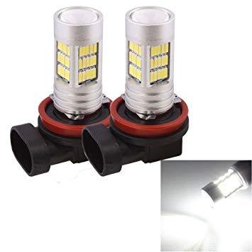 Uniqus 2 PCS H11 10W 1080LM White Light 72 LED SMD 4014 Canbus Car Fog Light Tail Light Bulb, DC 12V