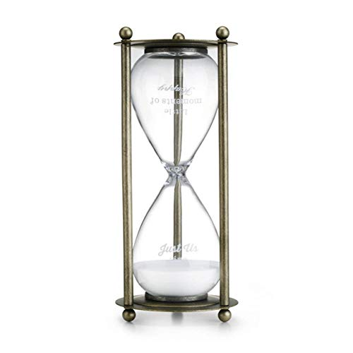 Redrock Traditions Gift of Time Hourglass 11 inch Glass and Metal Timer Figurine