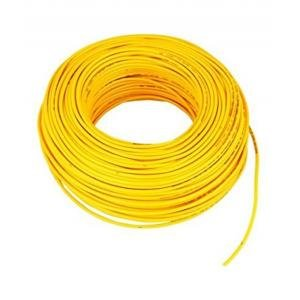 Kalinga Plus _1.5 mminsulated Copper PVC Cable Wire Length: 90 Meters (Yellow)