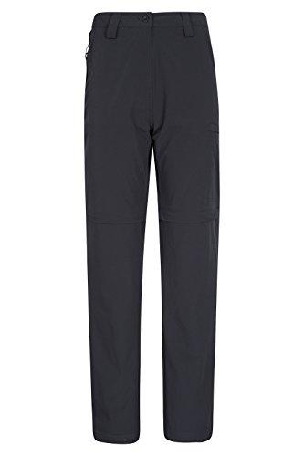 Mountain Warehouse Trek Womens Convertible Trousers - Summer Pants Black 12
