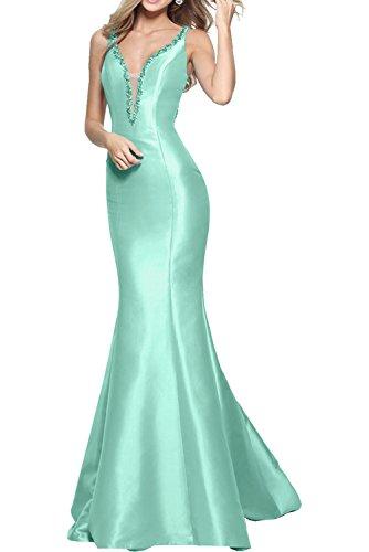Gruen Abendkleider Hell Blau Marie Braut La Einfach Damen Meerjungfrau Ballkleider Neuheit Brautjungfernkleider Lang WwaYnqf7