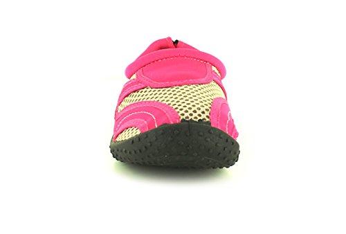 NUOVO ragazze adolescenti/BAMBINI ROSA ACQUAMARINA Scarpe ideale per vacanze - Rosa - NUMERI UK 1-13
