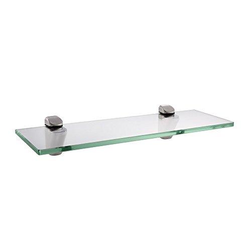 KES 14-Inch Bathroom Tempered Glass Shelf 8MM-Thick Wall Mount Rectangular, Brushed Nickel Bracket, BGS3202S35-2