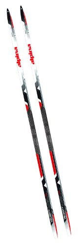 Alpina Sports Velocity Skate NIS Performance XC Skis Compatible with Rottefella NIS Bindings, Red/Black, 163cm
